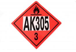 Знак опасности АК 305