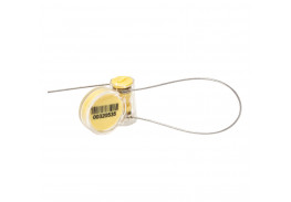 Роторная номерная пломба Ротор с тросом 1 мм, 240 мм, желтый