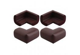 Мягкие накладки на углы, 4 штуки/комплект, венге, арт.3377