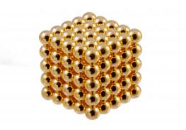 Forceberg Cube - Куб из магнитных шариков 10 мм, золотой, 125 элементов