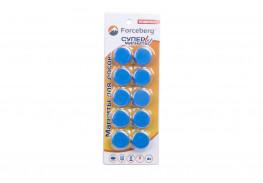 Магнит для магнитной доски FORCEBERG 20 мм, синий, 10шт.