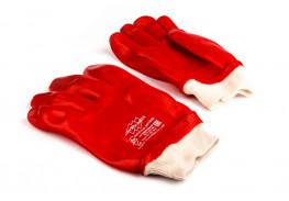 Перчатки х/б с ПВХ покрытием XL, красные