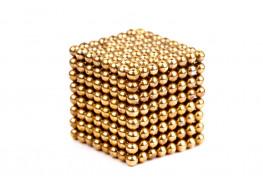 Forceberg Cube - куб из магнитных шариков 2,5 мм, золотой, 512 элементов