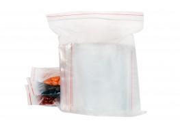 Упаковочные герметичные зип пакеты Forceberg HOME&DIY с замком zip-lock 10х15 см, прозрачные, 100 шт