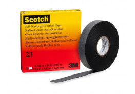 Лента самослипающаяся резиновая Scotch® 23, в индивидуальной упаковке, рулон 19 мм х 9,1 м