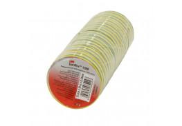 Набор изолент TEMFLEX 1300 универсальная желто-зелёная, рулон 15мм x 10м 10 шт.
