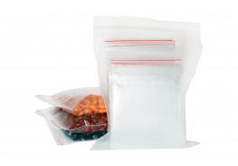 Упаковочные герметичные зип пакеты Forceberg HOME & DIY с замком zip-lock 8х12 см, прозрачные,100 шт